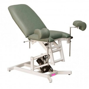 Gynaecological Electric Treatment Table with leg supports - 2-Sections - 110 x 55