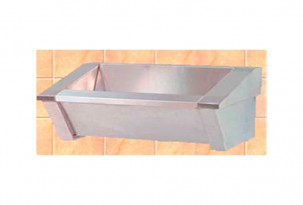 Surgical sink with 3 squares without tap in stainless steel