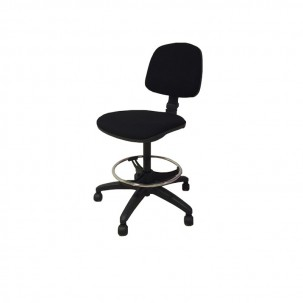 Operating Stool With Backrest And Footrest Hoop Upholstered In Fabric 3 Colors Available Kinefis Operative Stools Wide Offer In Stools And At The Best Price In The Market Clinical Furniture Fisaude Store