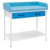 Naked baby table - screening for newborns: equipped with two drawers (colors available)