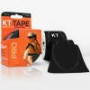 KT Tape Pro Sport Kinesiology Tape of Maximum Synthetic Quality 5cm x 5m with Precut, Color Black