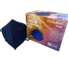 Navy blue FFP2 masks with European CE certificate (individually packed - box of 25 units)