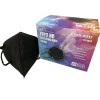 Black FFP2 masks with European CE certificate (individually packed - box of 25 units)