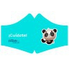 Washable and reusable cloth sanitary masks with filters: with panda screenprint (Size - Children) (Includes only one filter)