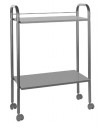 Table cart metal and wood heights of 2 gray ()