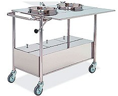 Tables and trolleys for plasters and plasters