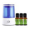 Kinefis Anti-mosquito Pack: Ultrasonic Humidifier + Essential Oils (eucalyptus, geranium and rosemary): Repels mosquitoes naturally