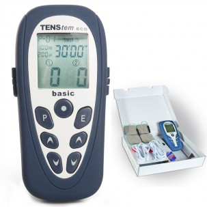 Tens Eco Basic: 2-channel electrostimulator and 16 programs (TENS + EMS +  Iontophoresis)