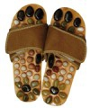 Massage shoes with natural stones